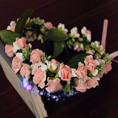 Korea Style Girl Rose Flower Bridal Wreath Bridesmaid Headdress Hair Accessories