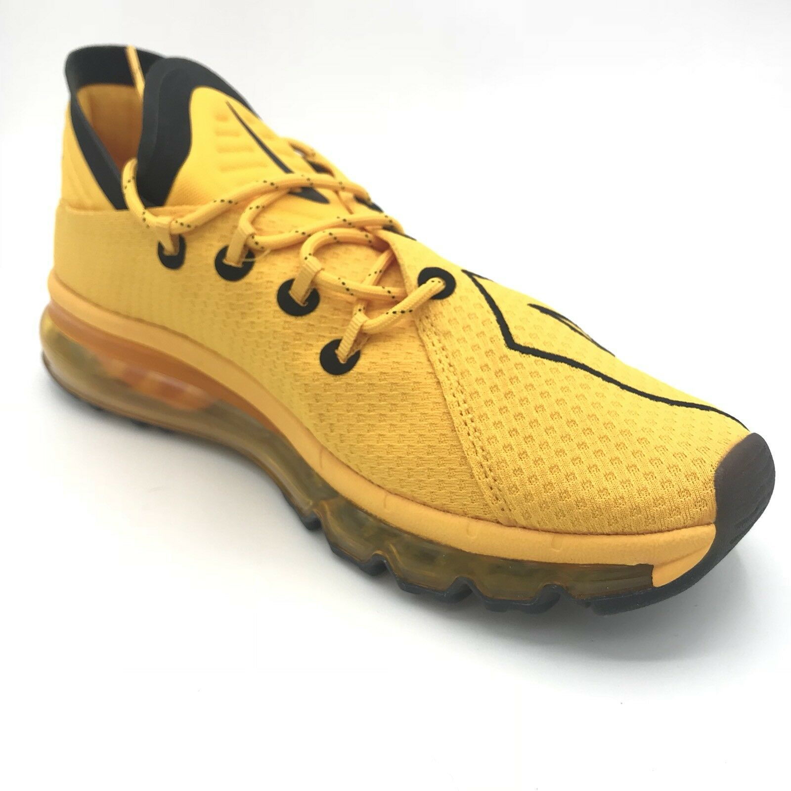 Nike Air Max Flair UpTempo University gold Yellow Black Mens Trainers 942236 700