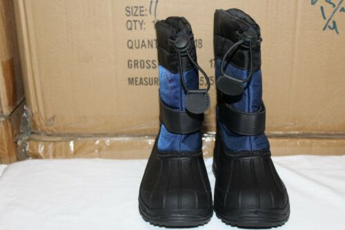 Brand New Boys Snow Boots Winter Navy//Black Size 6-10 Toddler