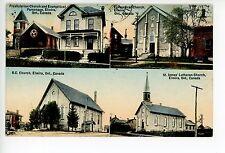 Church Multiview ELMIRO Ontario—Hand-Colored Antique PC Ludwig Pub 1911