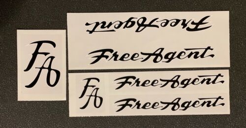 Choose Color /& Style Replacement Decals FREE AGENT Frame /& Fork Set