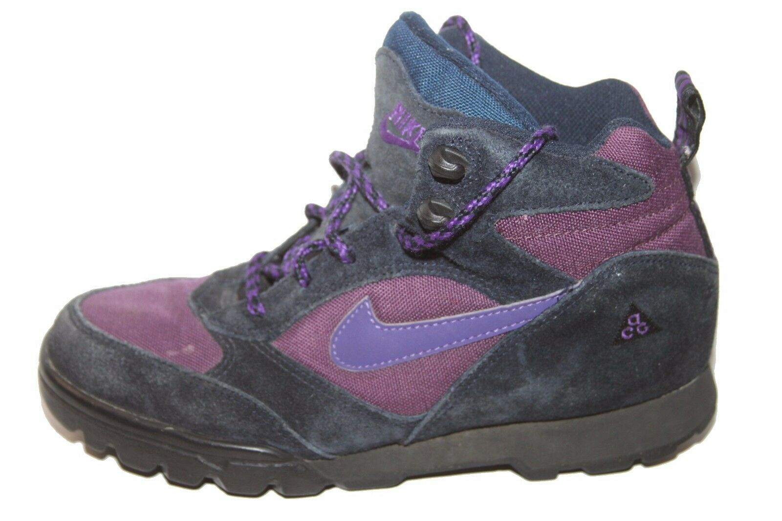 Vintage Nike Trail 1995 185054-552 Purple/Navy ACG Trail Nike Hightops Sz 8 Preowned 14ca00