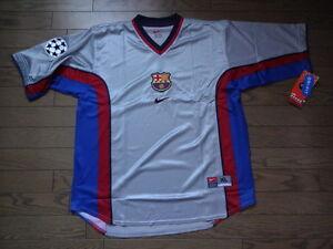 buy popular c02a8 523e6 Details about FC Barcelona 100% Original 1999/2000 CL Away Jersey Shirt XL  Still BNWT Rare