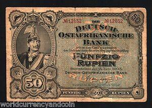 Image Is Loading German East Africa 50 Rupien P3 1905 Germany