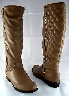 Damen Schuhe Stiefeletten Boots Stiefel Winterstiefel Gr.36-41 Neu Apricot A.15