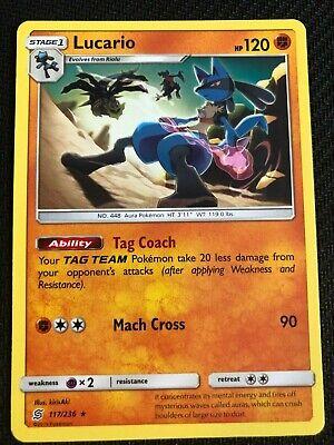 Lucario 126//214 Holo Rare Unbroken bonds Pokemon Card NM//M pack fresh