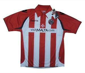 SHEFFIELD-United-2009-10-Authentic-Home-Shirt-eccellente-S-Soccer-Jersey