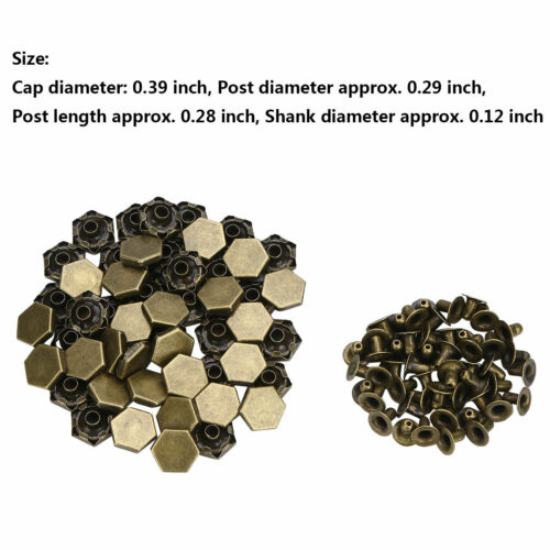 50 Set Metal Double Caps Rivets Stud Rapid Snap Leather Craft Belt Bag Clothing