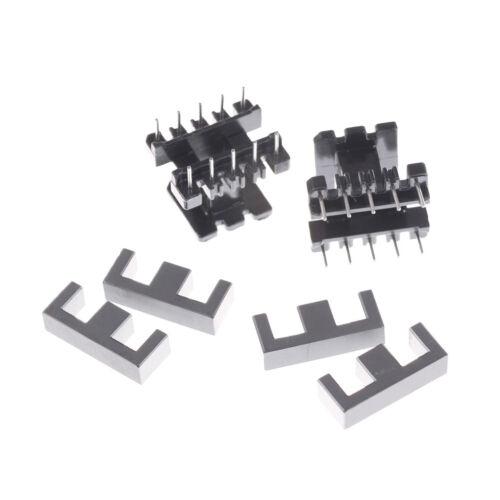 5set PC40 EE25 5+5pins Ferrite Cores bobbin transformer core inductor coil  M/&