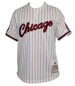 5fdab0df5 Chicago Bulls Mitchell   Ness Men s White Pinstriped Mesh Baseball ...