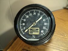 Vintage 4 12 Dial Ashcroft Wall Mounted 0 To 60 Duplex Gauge With Two Pointers