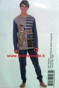 in Serafino 20506 Art Romeo Gigli Pigiama Uomo Primaverile in Cotone con Stampa con Polsini