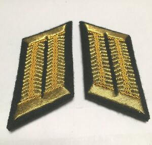 Details about WW2 GERMAN ARMY GENERAL STAFF OFFICER COLLAR TABS