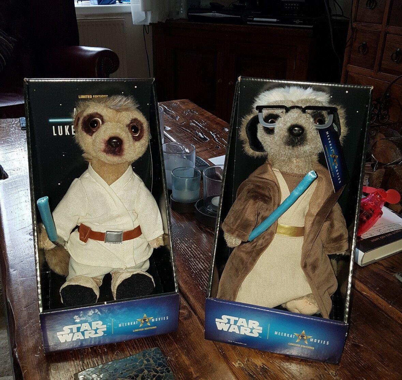 Sergei & Aleksandr As Luke Skywalker & Obi Wan Kenobi Limited Edition Meerkats