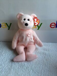 TY Beanie Baby - CURE the Pink Bear (Breast Cancer Awareness Bear) 9 Inches