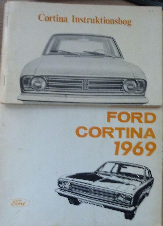 Instruktionsbøger, Toyota Carina, Ford Cortina