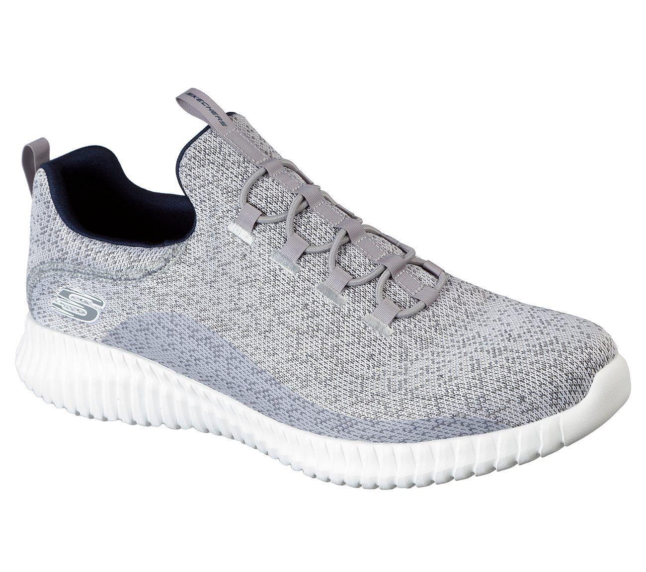 SK41/LGNV ELITE FLEX -MUZ Mn's Price reduction Light Gray Knit Mesh Athletic Shoes