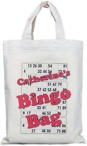 PERSONALISED - BINGO BAG - SMALL - NATURAL COTTON BAG