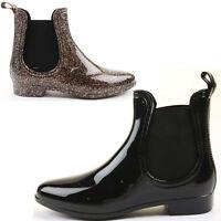 Wellies Wellingtons Pixie Vintage Winter Low Heel Short Flat Ankle Boots Size