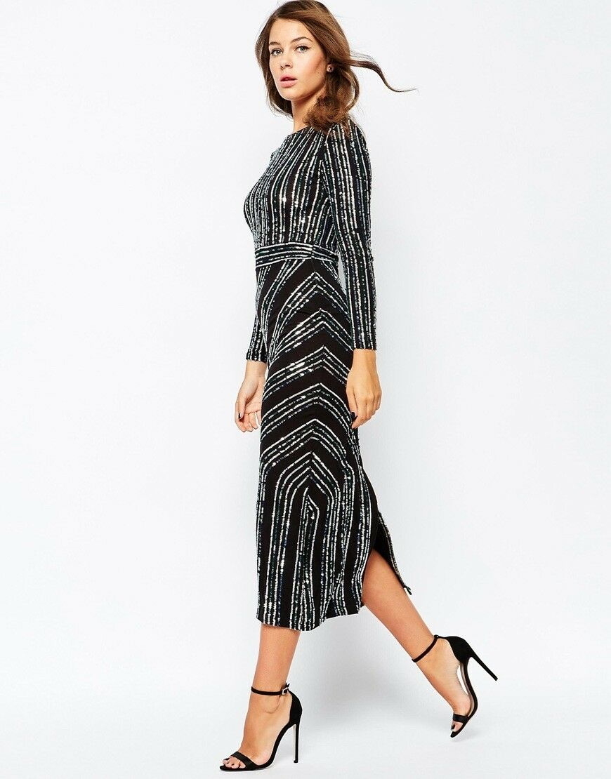 Robe de FRENCH CONNECTION, Paillettes Robe, L, NEUF