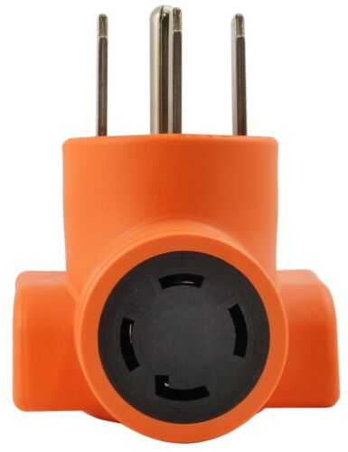 NEMA 14-50P to NEMA L14-30R 4-Prong Electric Range Outlet Adapter by AC WORKS®
