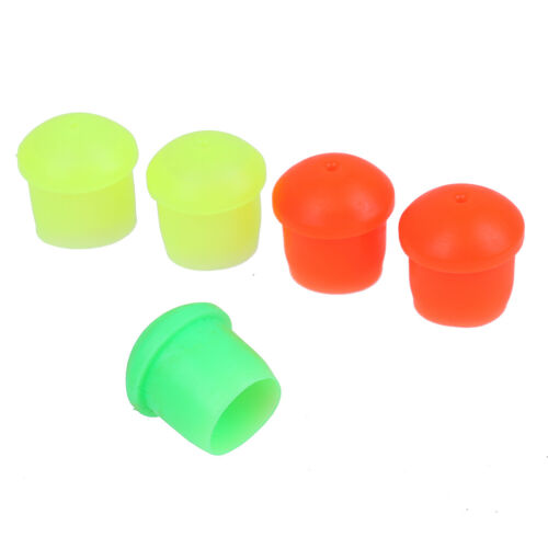 5 Stuecke Mehrfarbenangelrutenschutzhülle für Angelzubehör