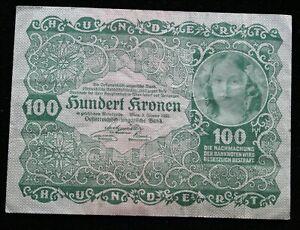 Banknote Austria-Hungary 100 Kronen 1922