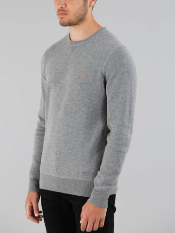 Faral Men Slim Fit Sweater in Gravel Marl            b01