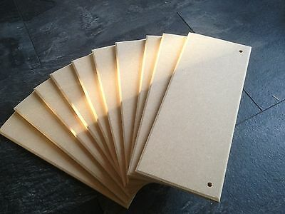 12 MDF blank craft plaques 200mm x 100mm x 9mm  or approx 8 X 4 x 3/8