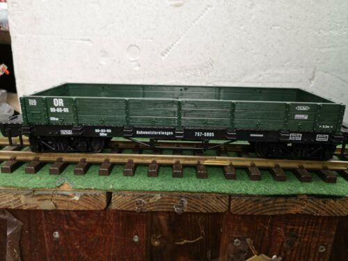 Für LGB   NEWQIDA  flach Güterwagen,grün  brandneu 4 achser nbv
