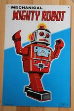 "*NEW* Mechanical Mighty Robot Tin Poster 2008 11""x17"" Reproduction Robert Lesser"