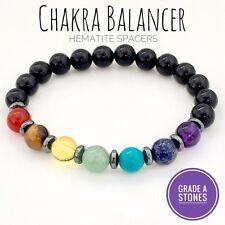 Grade A 7 Chakra Bracelet Crystal Reiki Balancing Spiritual Gemstone Healing