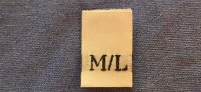 120Pcs White Woven Clothing Labels Made In USA Size Tab Tag XS S M L XL XXL