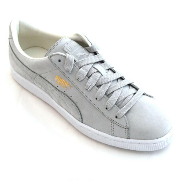 Puma Sneaker Sportschuh BASKET CITI SERIES NBK grau Größe 44 Leder