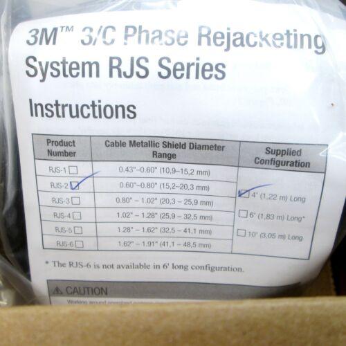1.2 m RJS-2-4FT 3M Phase Rejacketing Kit three 4 ft 3.3-15 kV coils