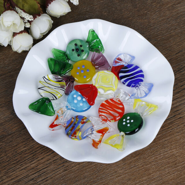 1/5/10Pcs Vintage glass sweets wedding party candy Christmas decoration giPj