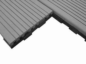10 M Bpc Klick Fliesen Terrassendielen Grau Anthrazit 1 Wahl Holz