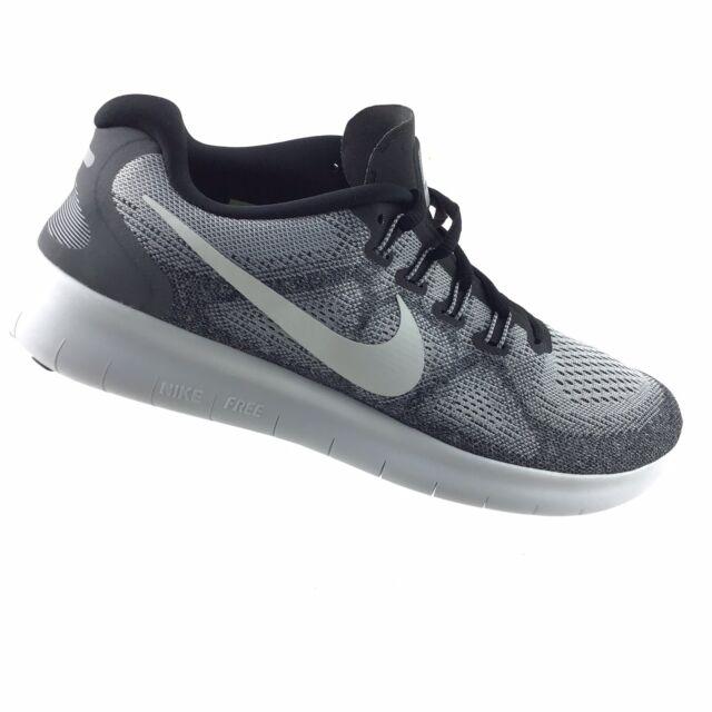 Nike Free RN 2017 Wolf GreyWhite Running Shoes 880839 002