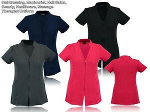 Work hairdressing Spa Nail Salon Beauty Healthcare Therapist Tunic Uniform UK