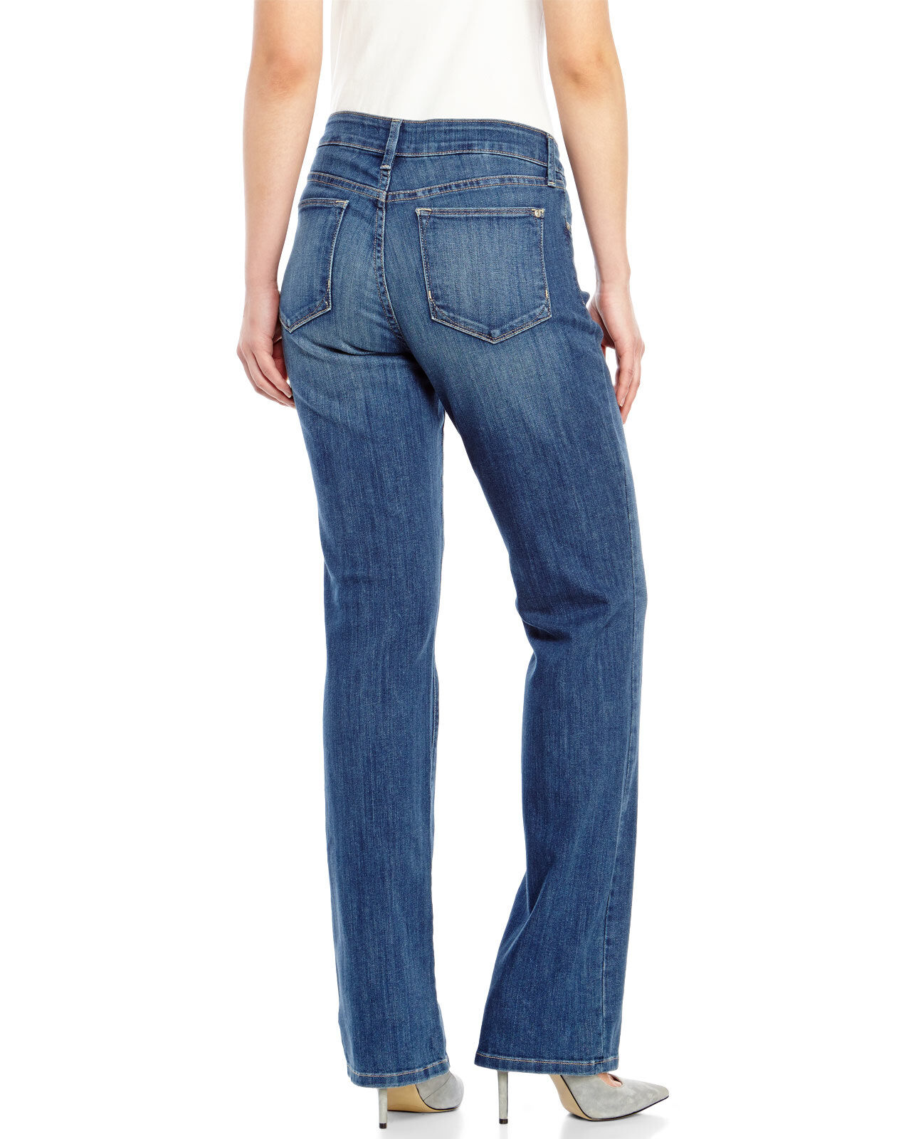 New NYDJ Not Your Daughter Jeans pant Billie mini bootcut Monrovia bluee sz 6P