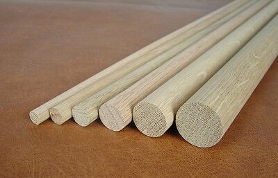 100 Stück Rundstab Buche Ø 30 x 1000mm glatt Holzstab Buchenrundstab Holzdübel