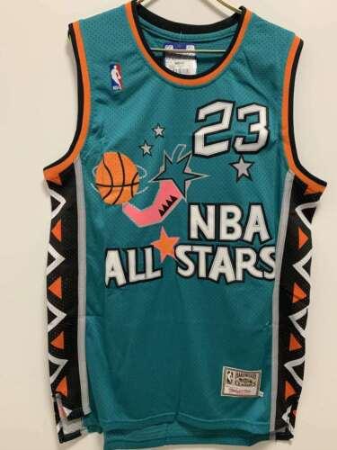 NBA Jersey Michael Jeffrey Jordan #23 NBA Basketball Jersey Embroidery Vest Blue