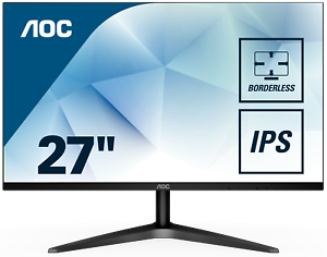 AOC 27B1H LED-Monitor 68,6 cm 27 Zoll schwarz Full-HD IPS 7ms HDMI VGA