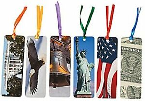 American-USA-Bookmarks-Book-Reading-School-Party-Bag-Fillers-Pack-Sizes-6-48