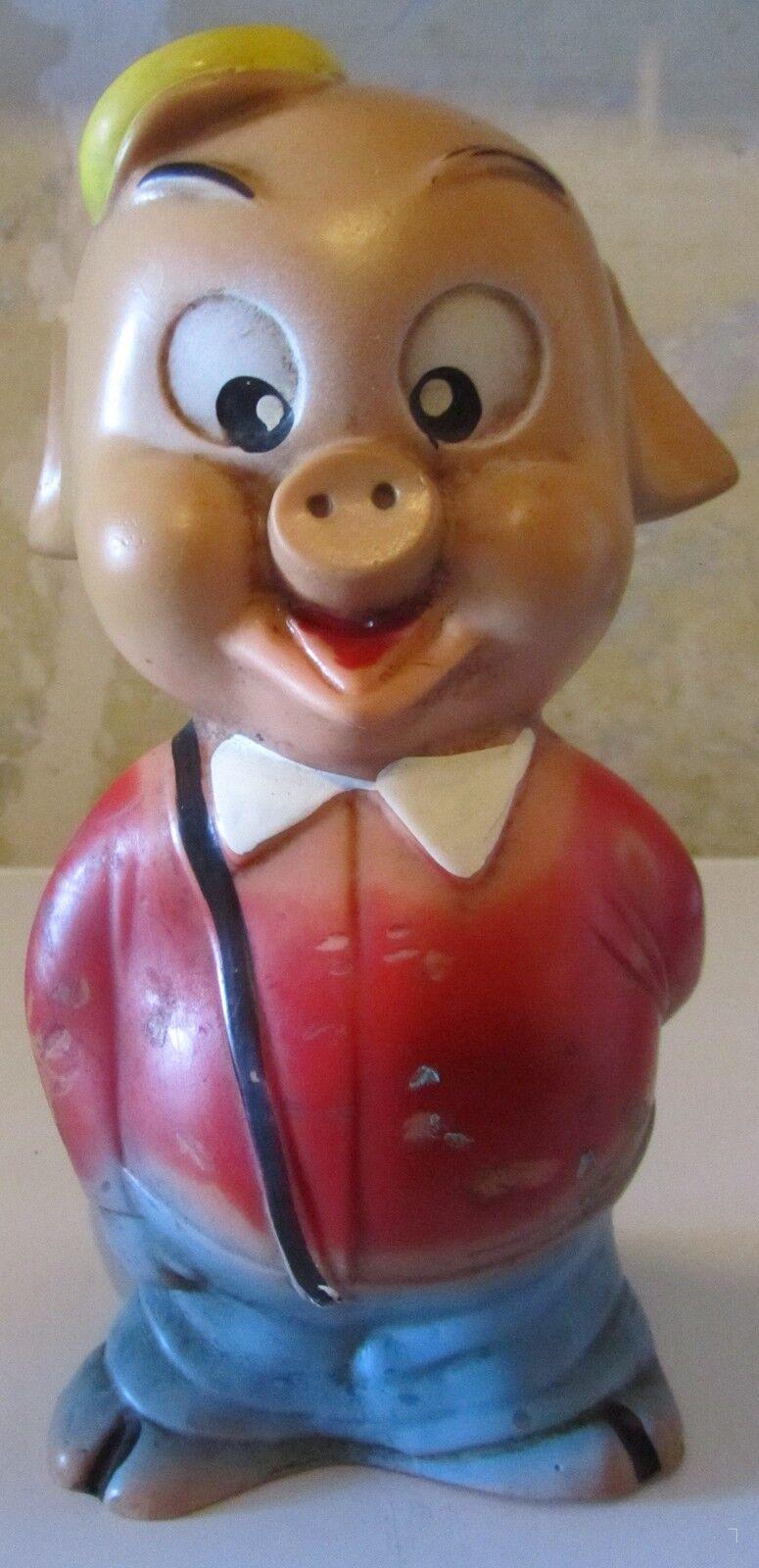 Porky Pig Pallino anni 70 Gomma Rubber toy SPESE GRATIS