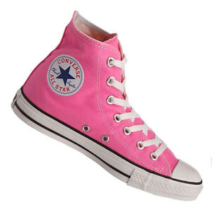 3779e204a01470 Converse Hi Top All Star Chuck Taylor Pink White Mens Womens Shoes ...