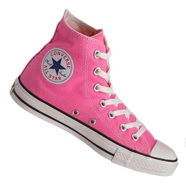 d558c8e5d999 Converse Hi Top All Star Chuck Taylor Pink White Mens Womens Shoes All Sizes