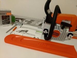 stihl ms 250 chainsaw with bar cover 18\