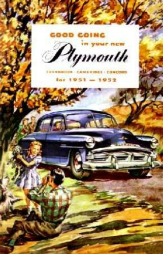 papakod.ru 1951 1952 Plymouth Owners Manual User Guide Reference ...