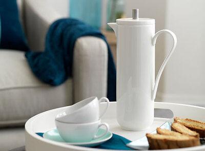 Creative Tops LA CAFETIERE Lexi White Fine Bone China CAFETIERE French Press Coffee Maker